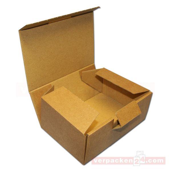 Klappdeckelschachtel braune Mikrowelle, 1-teilig - 160x110x64mm