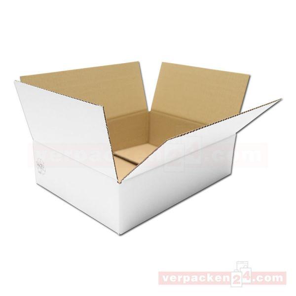 Versandkarton weiß - fefco 0201 - 1-wellig