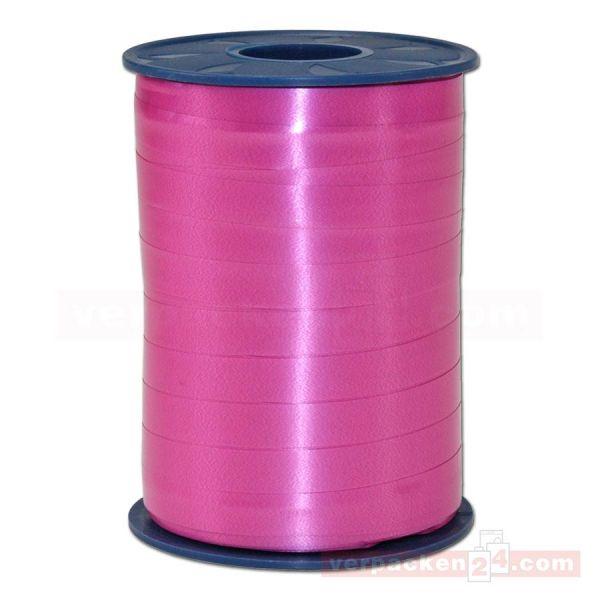 Glanzband auf Rolle 250 mtr., 9 mm - pink (606)