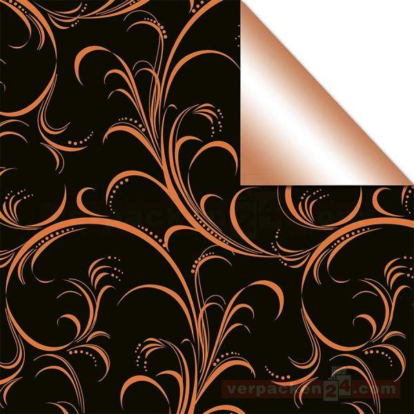 Weihnachts Geschenkpapier St 913216, Rolle 50 cm - schwarz Ranke