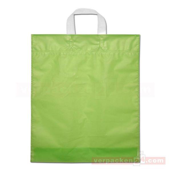 HDPE-Schlaufentasche, milchig transparent grün