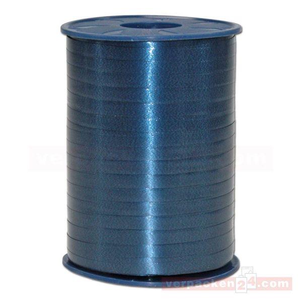 Glanzband auf Rolle 500 mtr., 5 mm - dunkelblau (624)