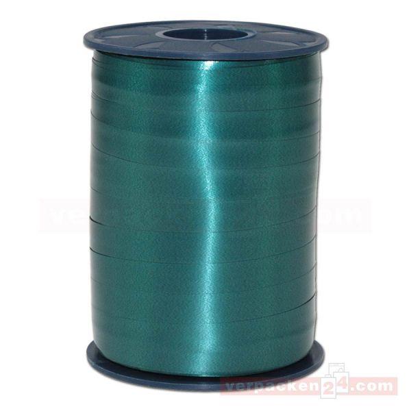 Glanzband auf Rolle 250 mtr., 9 mm - dunkelgrün (735)