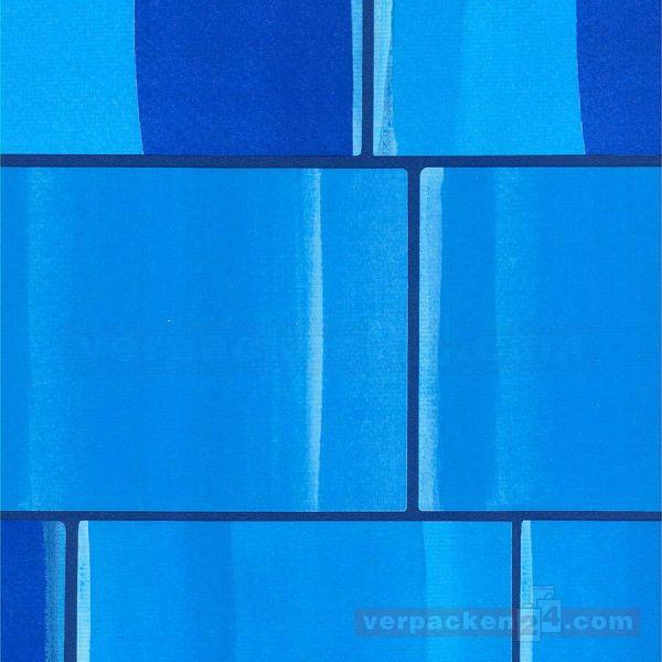 Geschenkpapier, neutral St 973351, Rolle 50 cm - Kästchen blau