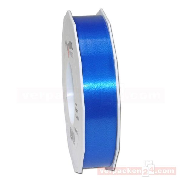 Glanzband - Lucky - lackiert Rolle 50m, 25 mm - blau (614)