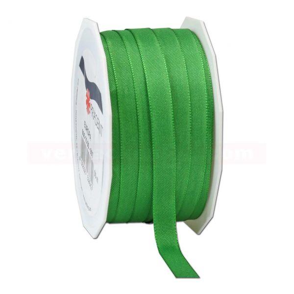 Seidenband - Europa - Rolle 50 m, 10 mm - grün (607)