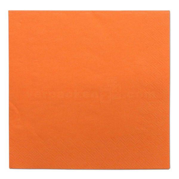Tissue-Servietten farbig, 3-lagig, 33x33cm - 1/4 Falz - orange