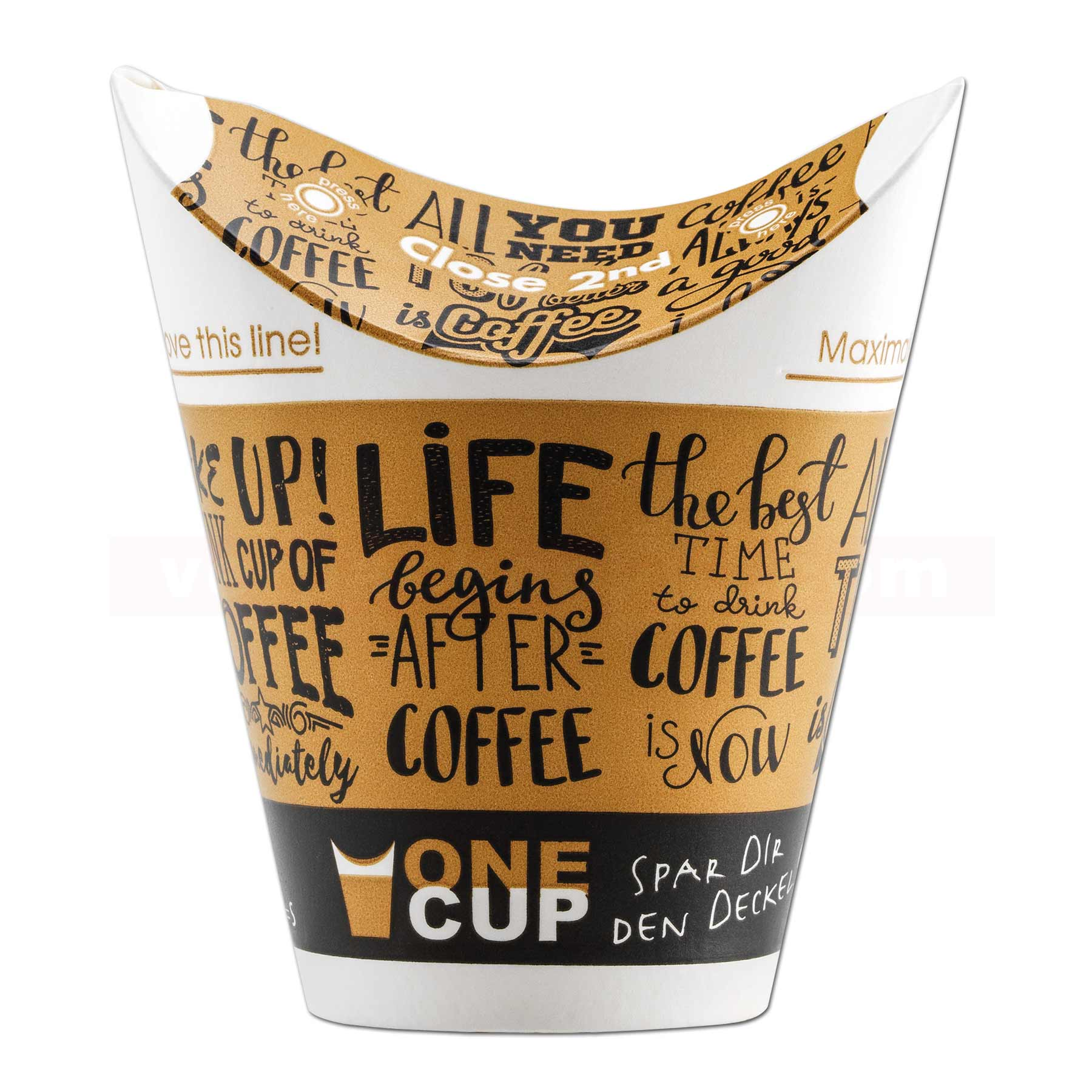 cup kaffeebecher single wall coffee verpackencom