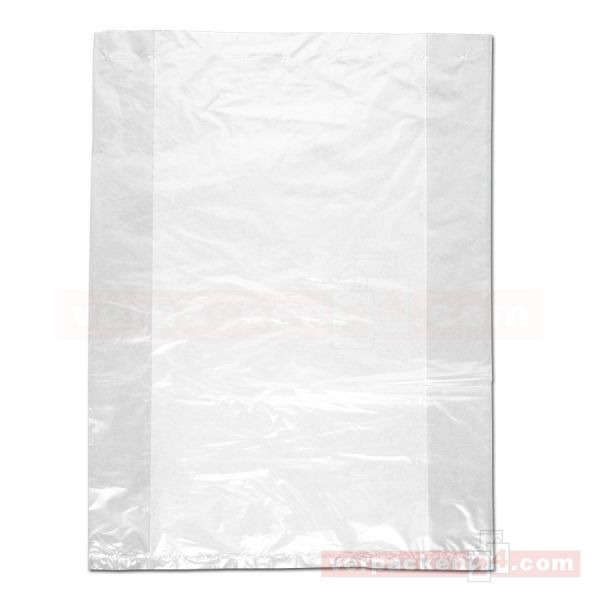 LDPE-Faltenbeutel, transp., ungelocht - 18+10x55 cm - 20 µ