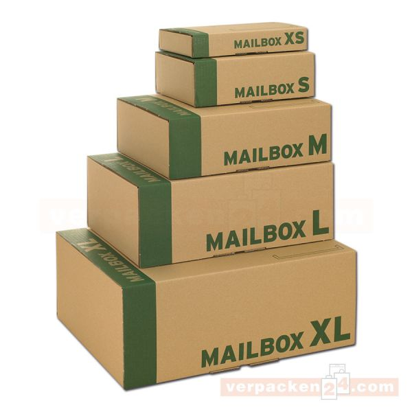 Mail-Box Post-Versandkarton - Paketbox braune Welle