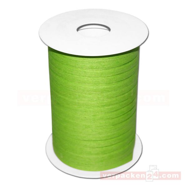 Baumwoll-Ringelband 5 mm, Rolle 200 mtr - hellgrün (551)