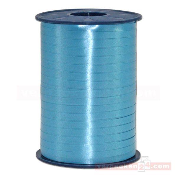 Glanzband auf Rolle 500 mtr., 5 mm - hellblau (612)
