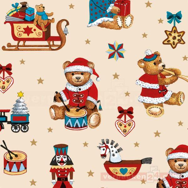 Weihnachts Geschenkpapier St 914181, Rolle 50 cm - Teddybären
