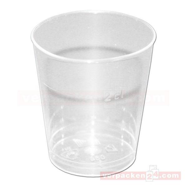 Spritzguß - Schnapsglas, klar - 20 ccm