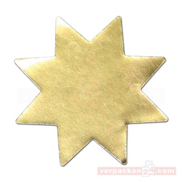SKL-Etiketten, Sterne gold - klein - 20 mm