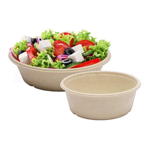 Bagasse-Salatschale rund - BECHER - braun, kompostierbar