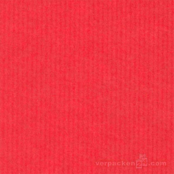 Geschenkpapier, neutral B 7002, Rolle 50 cm - uni rot