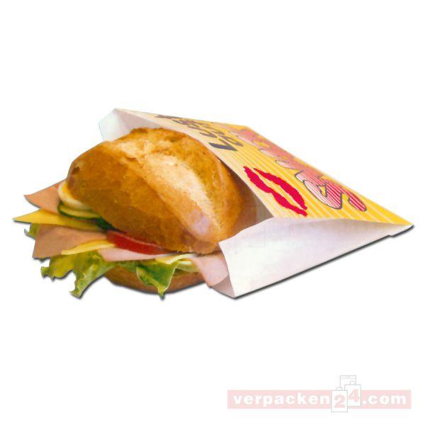 Snack - Snackbeutel - Lust auf Snack - 12+5x11 cm