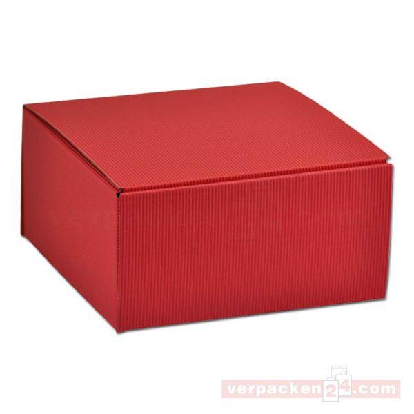 Geschenkkartons - Allround Rot - offene Welle