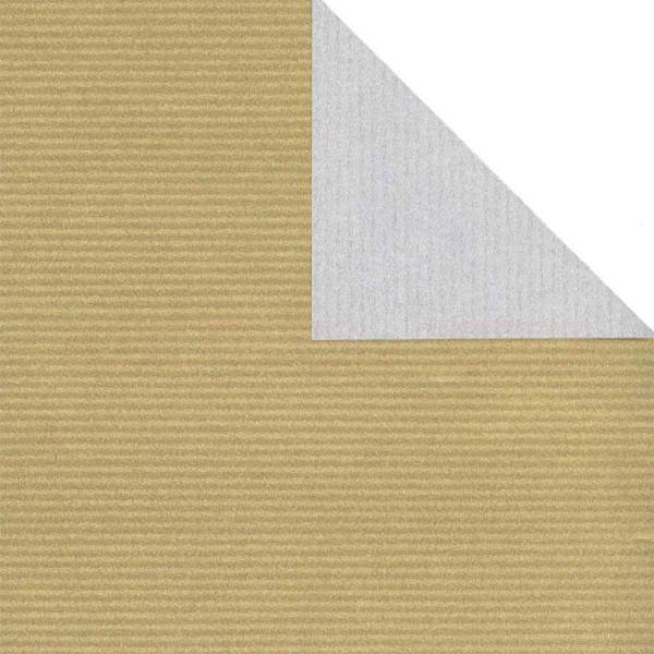 Geschenkpapier, neutral St 36153, Kurzrolle 50 cm - silber/gold