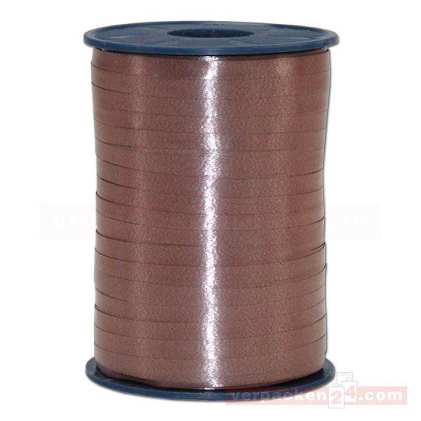 Glanzband auf Rolle 500 mtr., 5 mm - braun (622)