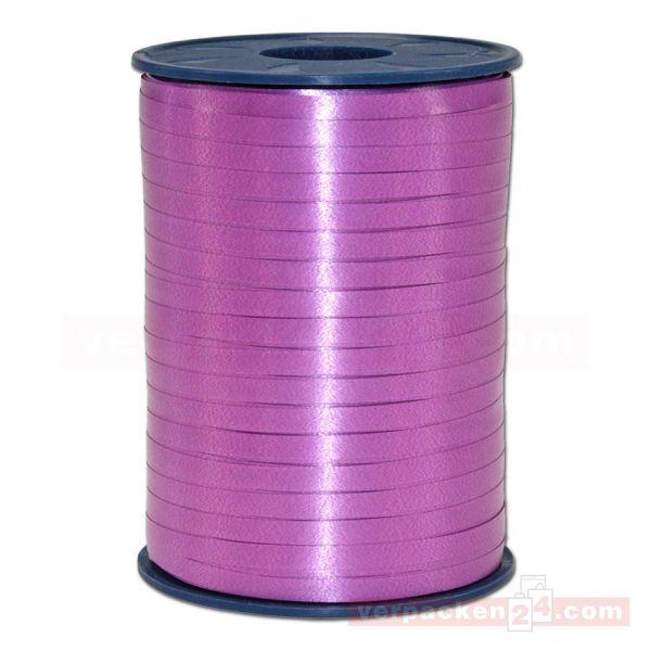 Glanzband auf Rolle 500 mtr., 5 mm - hellviolett (025)