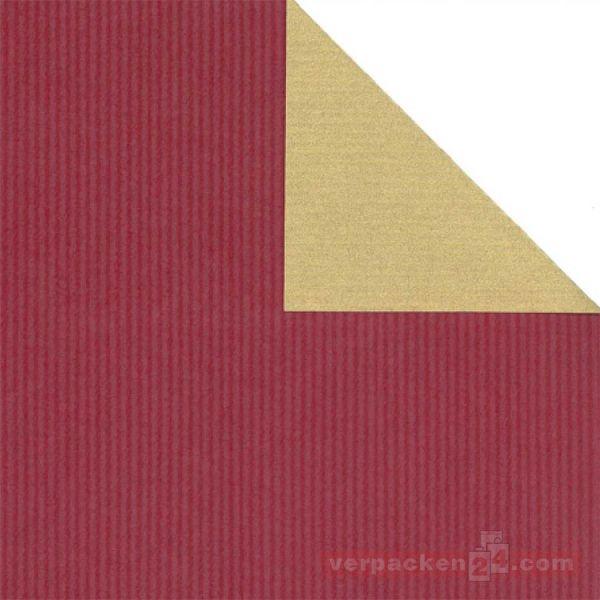 Weihnachts Geschenkpapier St 983442, Rolle 50 cm - bordeaux/gold