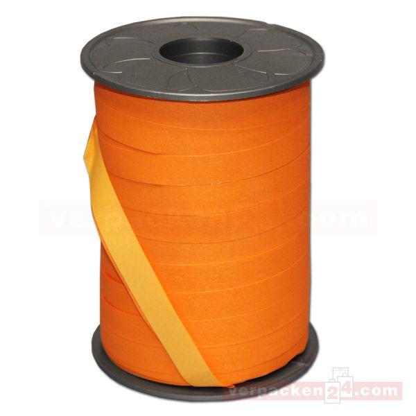 Geschenkband auf Rolle - BICOLOUR 200 mtr., 10 mm - orange/gelb