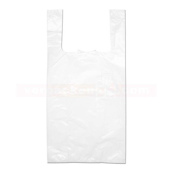 HDPE-Hemdchentaschen, weiße Folie, geblockt
