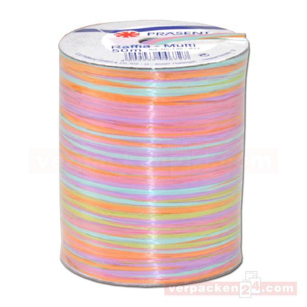 Bastband auf Spule - Raffia Multicolour 50 m - rosa (027)