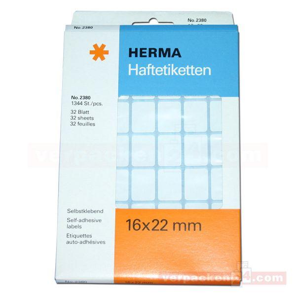 Herma Haftetiketten, weiß - 16x22 mm