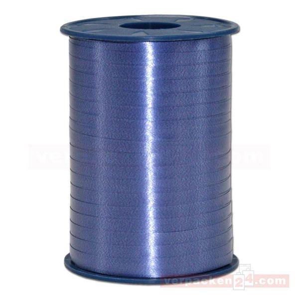 Glanzband auf Rolle 500 mtr., 5 mm - jeansblau (724)
