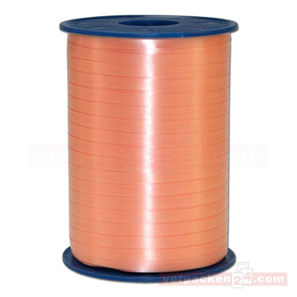 Glanzband auf Rolle 500 mtr., 5 mm - apricot (034)