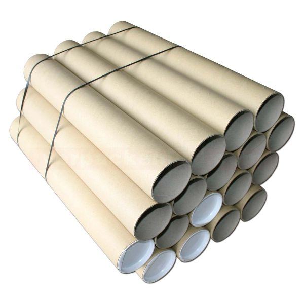 Versandhülsen, braun - 455/430x80x2,2 mm - DIN A2/A3