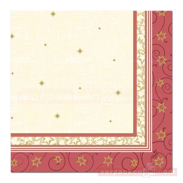 DUNI Klassik-Servietten Xmas, 40x40cm - 1/4 Falz Classy Star