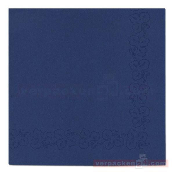 DUNI Dunicel-Servietten, Weinranke, 41x41cm - dunkelblau