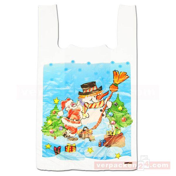 Weihnachts-Hemdchentasche - Schneemann