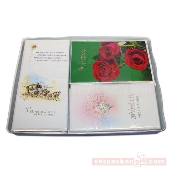 Glückwunschkarten, sortiert, Sortiment - Vermählung 6x10 St.