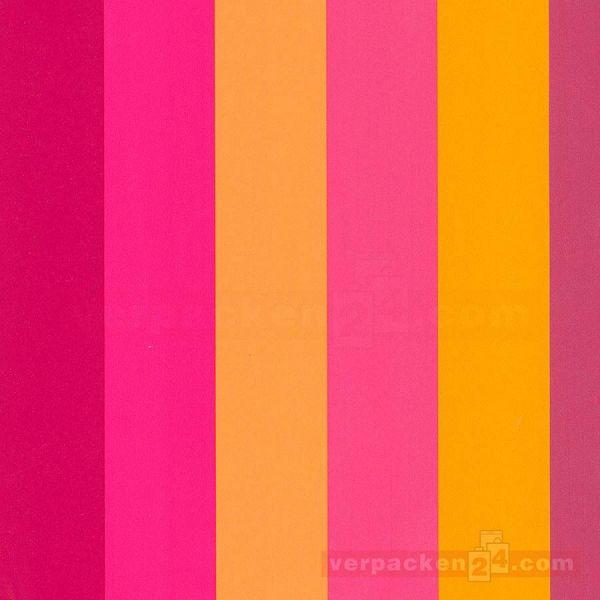 Geschenkpapier, neutral St 36490, Rolle 50 cm - Streifen pink