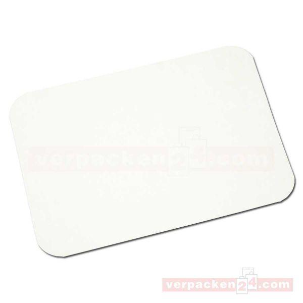 Deckel für Aluschalen, Karton PE-kasch. für 8383 - 207x141 mm