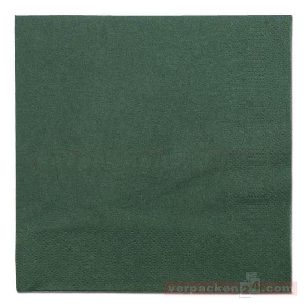 DUNI Zelltuch-Servietten, 3-lg, 1/4 Falz, 33x33cm - jägergrün
