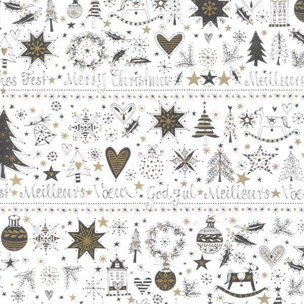 Geschenkpapier Weihnachten.Weihnachts Geschenkpapier St 918236 Rolle 50cm Frohes Fest