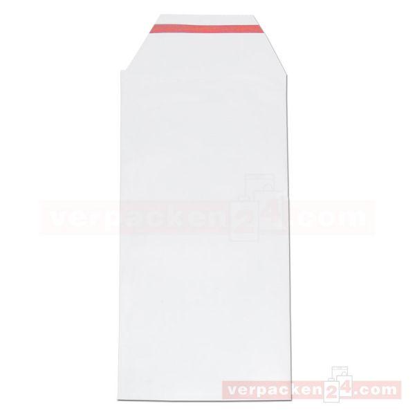 Versandtaschen, Euromail, transp., Klappe - 120x240+50 mm