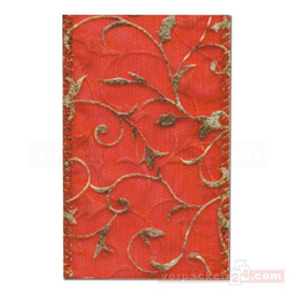 Schleifenband Weihnachten Toledo Rolle 20 m, 40 mm - rot