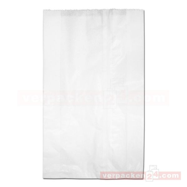 Hutfaltenbeutel, weiß - 31 + 10 x 52 cm