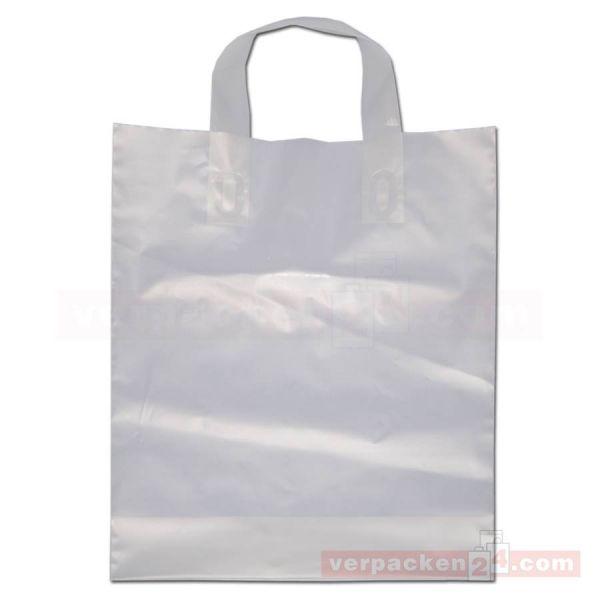 HDPE-Schlaufentasche, milchig transparent natur