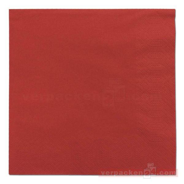 DUNI Zelltuch-Servietten, 3-lg, 1/4 Falz, 33x33cm - rot