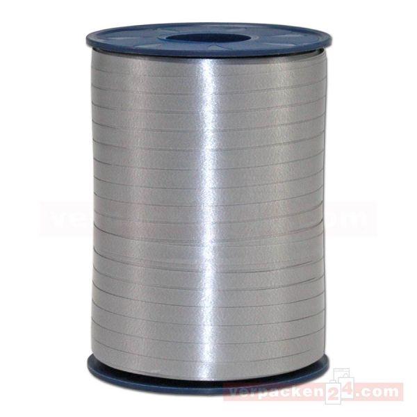 Glanzband auf Rolle 500 mtr., 5 mm - grau (731)