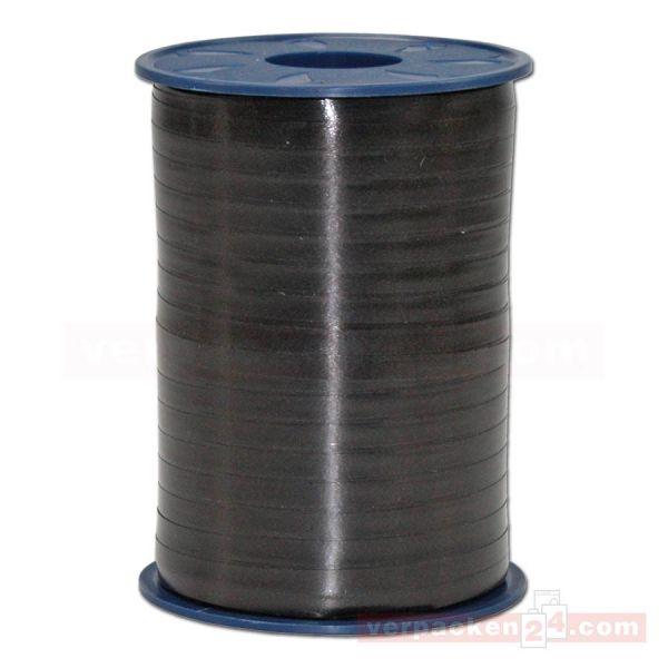 Glanzband auf Rolle 500 mtr., 5 mm - schwarz (613)