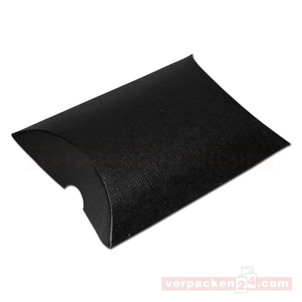 Börsen, schwarz / Leinen - 85x85x30 mm - (13752)